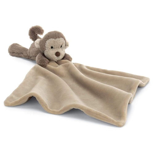 Jellycat brown monkey baby blanket soother