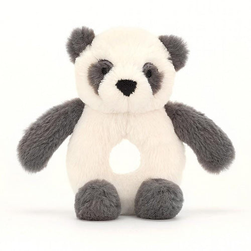 Jellycat panda plush baby rattle ring