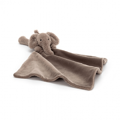 Jellycat grey elephant baby soother blanket