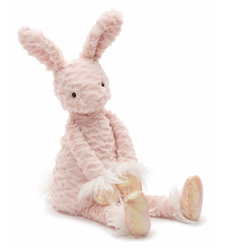 Jellycat pink bunny stuffed animal with long ears