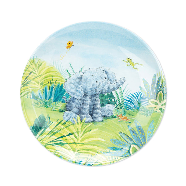 Jellycat elephant melamine plate for kids