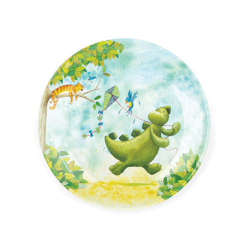 Jellycat dinosaur melamine plate for kids