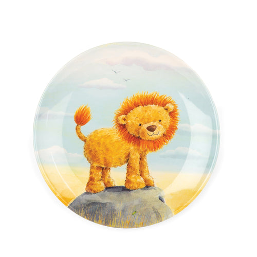 Jellycat brave lion children's melamine dinner plate