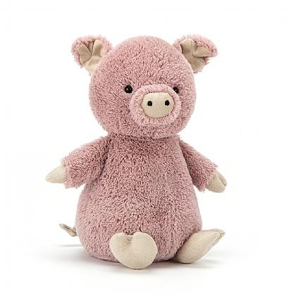 Jellycat pig stuffed animal peanut pink