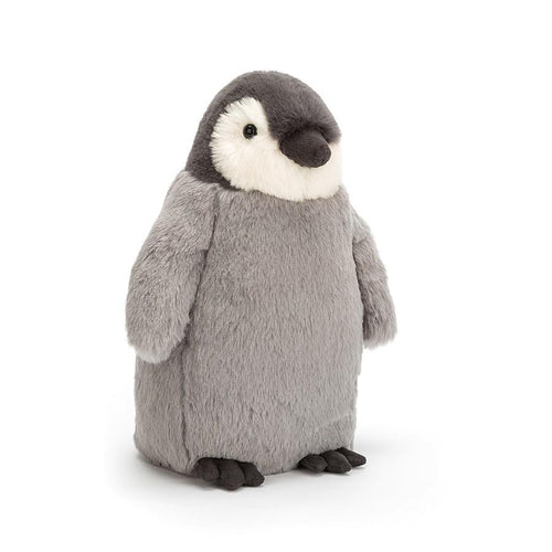 Stuffed grey penguin by Jellycat