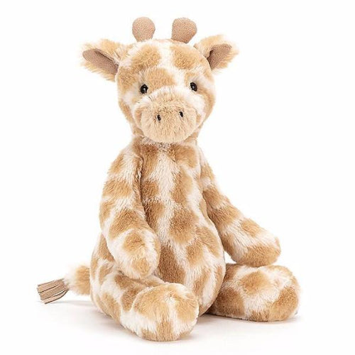 Jellycat giraffe stuffed animal spotted brown and cream