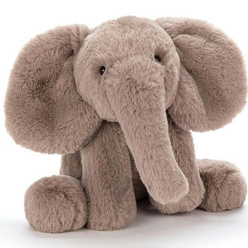 Jellycat elephant stuffed animal grey Smudge