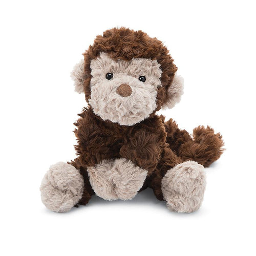 Small brown furry stuffed monkey