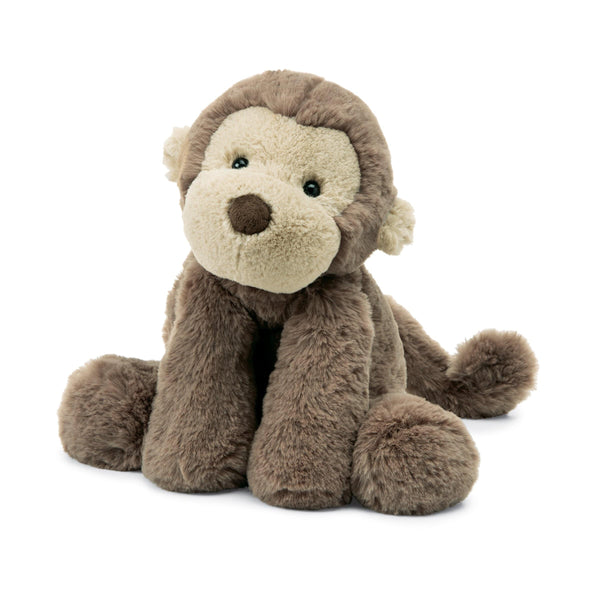 Jellycat smudge monkey stuffed animal brown