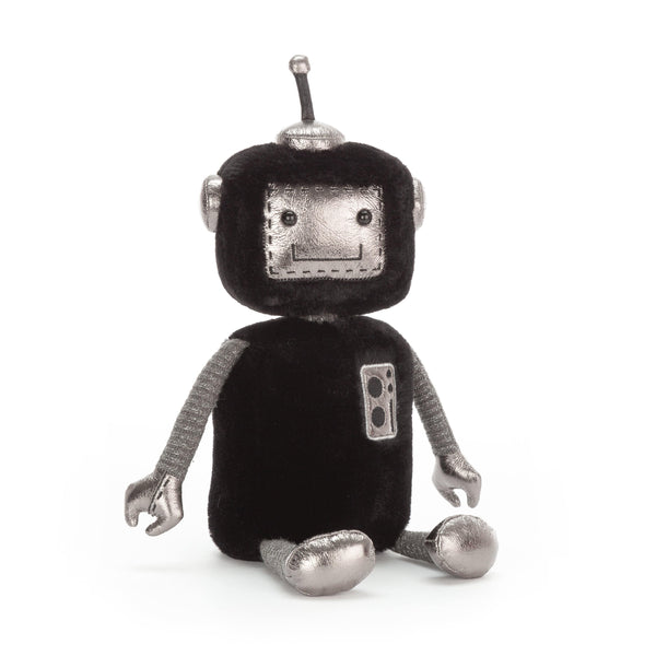 Jellycat Robot Stuffed Toy Black and Silver