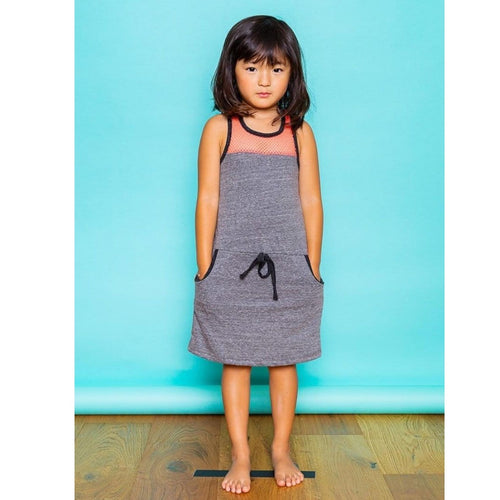 Joah love grey jersey sleeveless girls dress