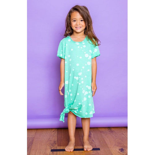 Joah love pale aqua jersey girls dress