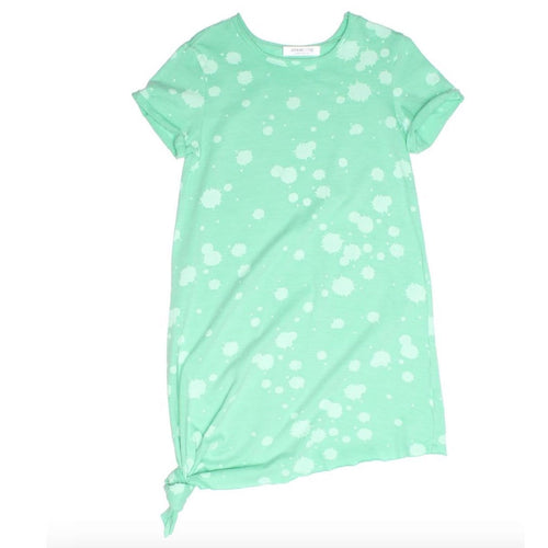 Joah love pale aqua knit girls dress