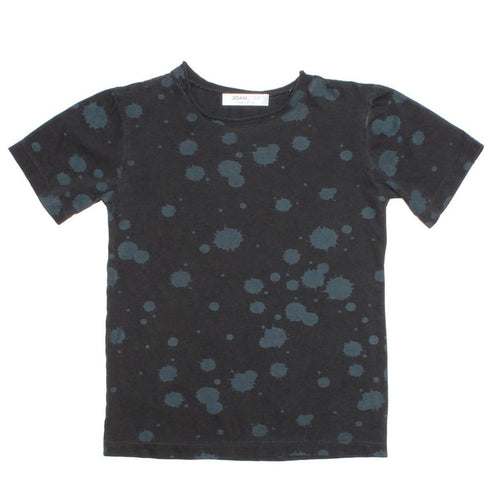 Joah Love black short sleeve splatter kids tee