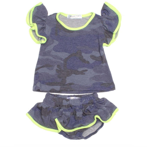 Joah Love blue camouflage baby girl bloomer set
