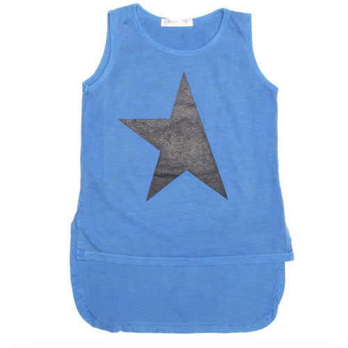 Joah love blue sleeveless star girls tank top