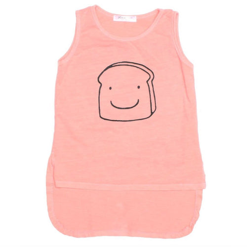 Joah love coral sleeveless girls tank top