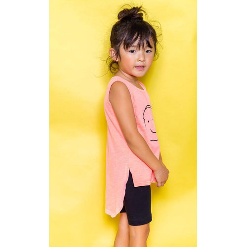 Joah love coral sleeveless girls graphic tank top