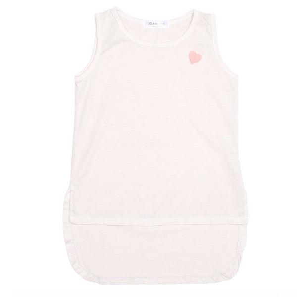 Joah Love white sleeveless girls tank top