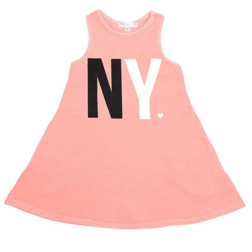 Joah love coral new york graphic sleeveless girls dress