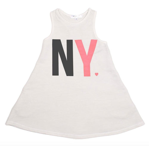 Joah Love white sleeveless knit new york girls dress