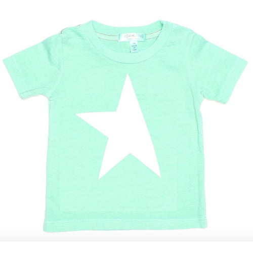 Joah love aqua short sleeve star boys graphic tee