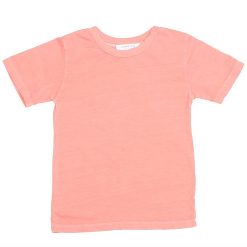 Joah love coral short sleeve kids tee