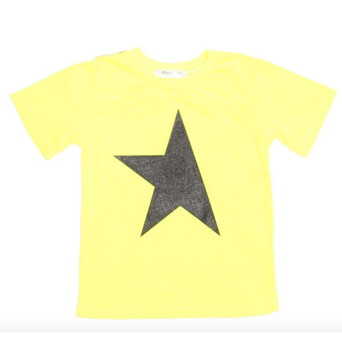 Joah love yellow star boys graphic t-shirt