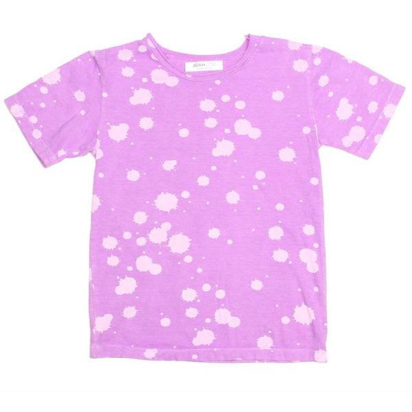 Joah love purple short sleeve kids tshirt