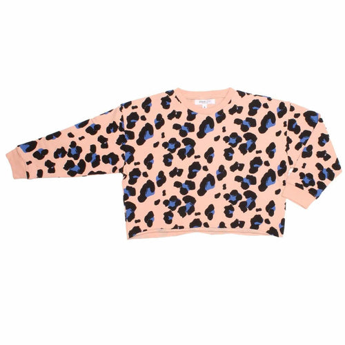 Joah love pink cheetah print girls sweatshirt