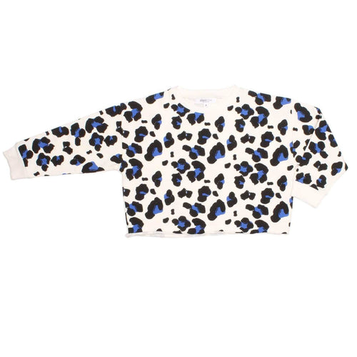 Joah love white cheetah print girls sweatshirt