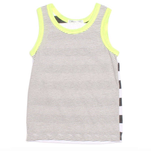 Joah Love grey stripe boys tank top