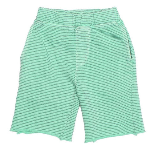 Joah love aqua stripe knit boys shorts