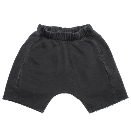 Joah love black baggy knit boys shorts
