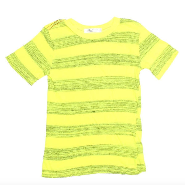 Joah love yellow and grey stripe knit boys t-shirt