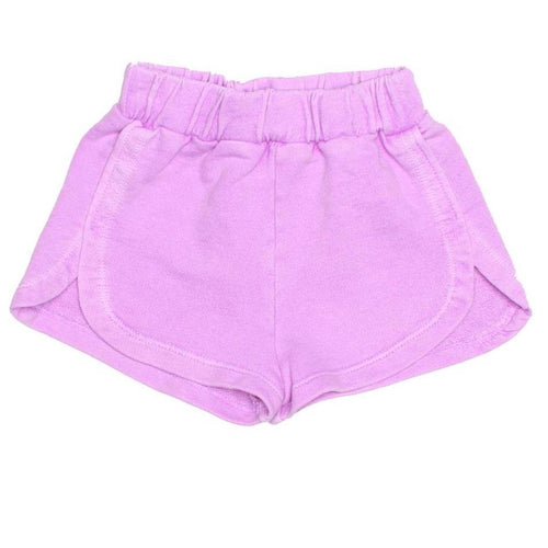 Joah love purple knit girls shorts