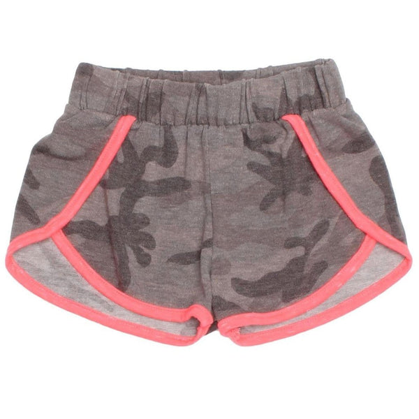 Joah love grey camouflage knit girls shorts