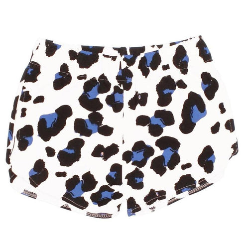 Joah love white cheetah print knit girls shorts
