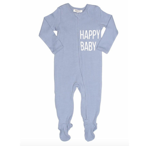 Joah Love light blue happy baby boy sleeper
