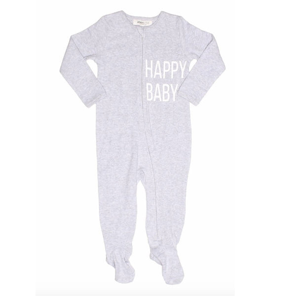 Joah Love heather grey happy baby sleeper