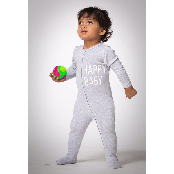 Joah Love happy baby heather grey sleeper