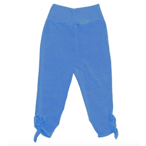 Joah love blue tie girls capri leggings