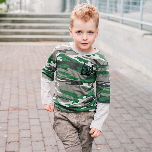 Joah Love camo long sleeve boys t-shirt