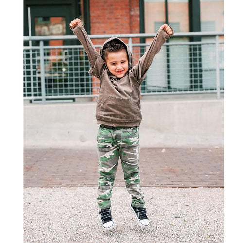Joah love camo knit boys pants