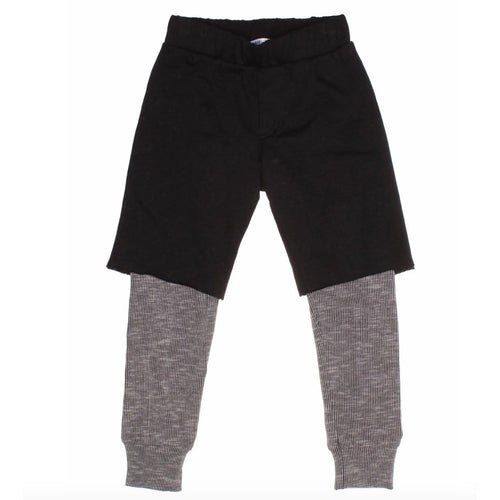 Joah Love layered grey and black boys pants