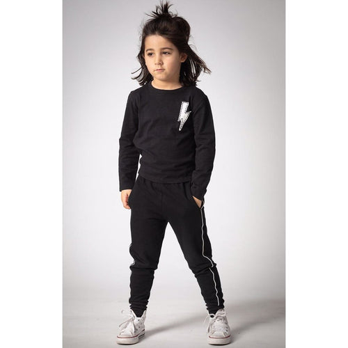 Joah Love black long sleeve boys graphic tee