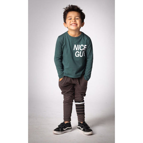 Joah Love green long sleeve nice guy boys graphic t-shirt