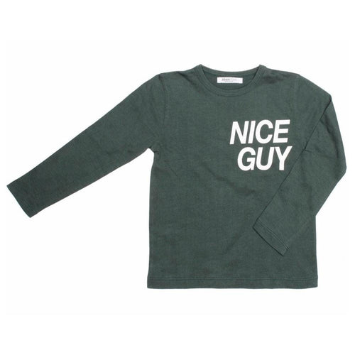 Joah Love green long sleeve boys graphic tee