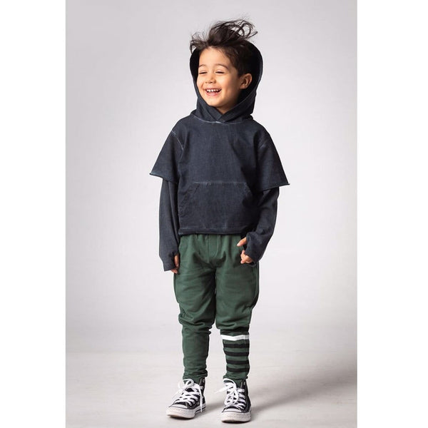 Joah Love black distressed hoodie for boys and toddlers