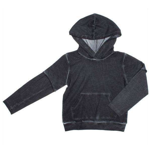 Joah Love black distressed boys hoodie